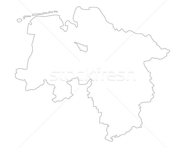 Mappa abbassare vettore Germania isolato grigio Foto d'archivio © rbiedermann