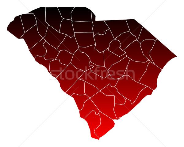地図 サウスカロライナ州 赤 米国 ベクトル 孤立した ストックフォト © rbiedermann