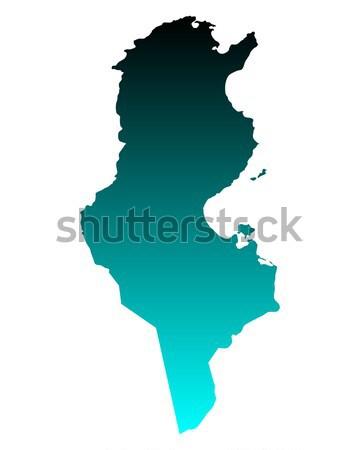 Map of Tunisia Stock photo © rbiedermann