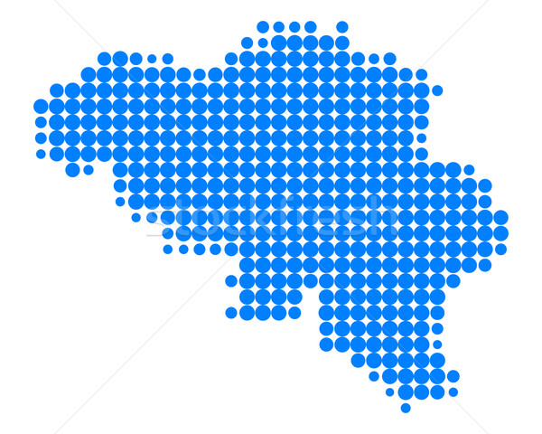 Kaart België wereldbol zee reizen patroon Stockfoto © rbiedermann
