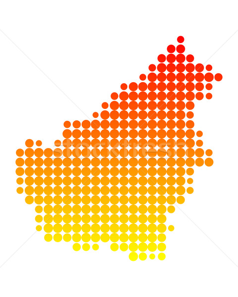 Map of Borneo Stock photo © rbiedermann