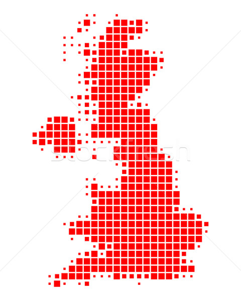 Stock photo: Map of Great Britain