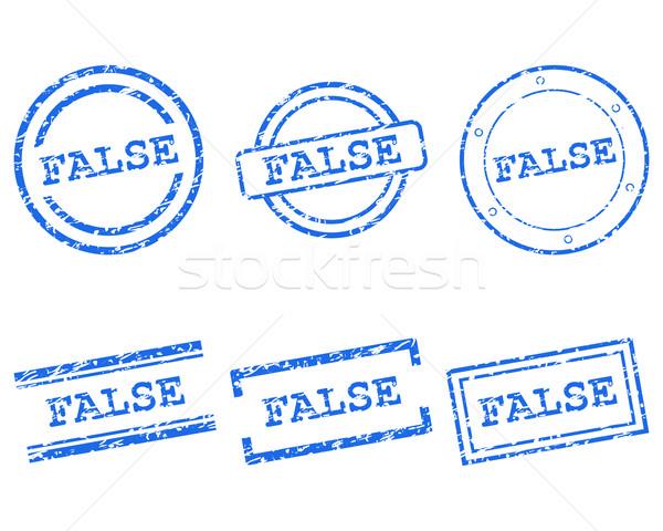 Fałszywy znaczków zdrowia pieczęć graficzne sprzedaży Zdjęcia stock © rbiedermann