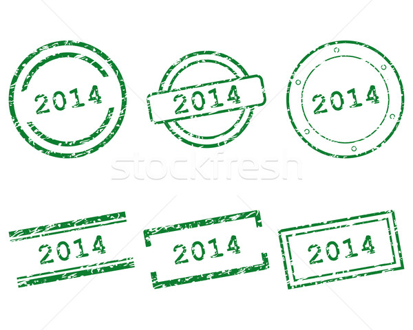 2014 stamps Stock photo © rbiedermann