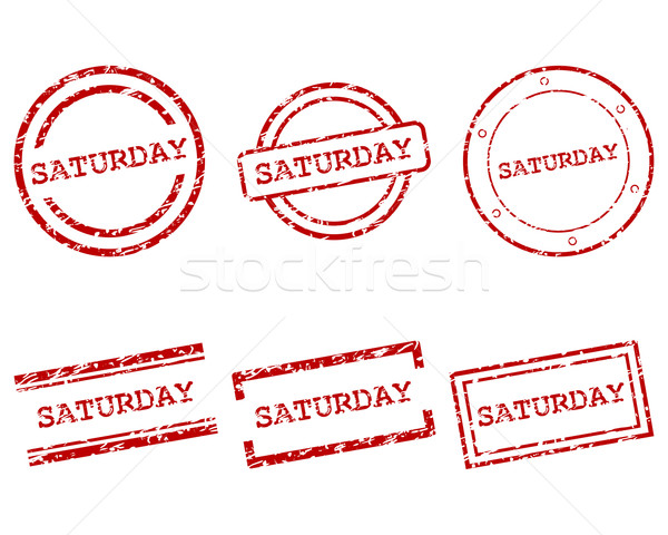 Saturday stamps Stock photo © rbiedermann