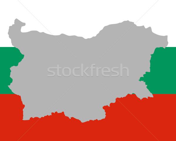 Kaart vlag Bulgarije achtergrond reizen Stockfoto © rbiedermann