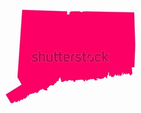Mapa Oklahoma viajar américa roxo isolado Foto stock © rbiedermann