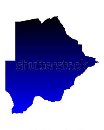 Pokaż Botswana niebieski podróży wektora Zdjęcia stock © rbiedermann