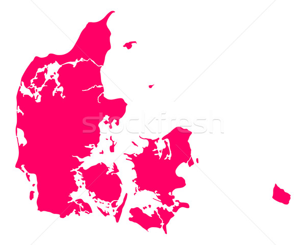 Mapa Dinamarca viaje púrpura vector Foto stock © rbiedermann