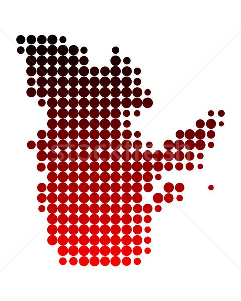 Harita Quebec arka plan kırmızı model daire Stok fotoğraf © rbiedermann