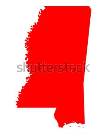 Harita Mississipi seyahat kırmızı Amerika ABD Stok fotoğraf © rbiedermann