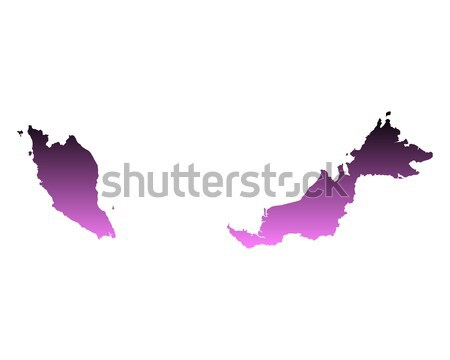 Mapa Malásia fundo linha vetor Foto stock © rbiedermann