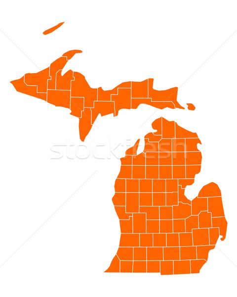 Map of Michigan Stock photo © rbiedermann