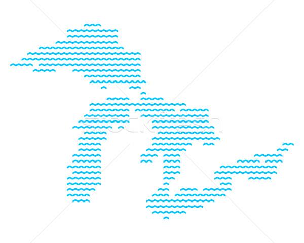 Mappa blu onda pattern vettore Foto d'archivio © rbiedermann