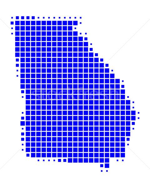 Mappa Georgia blu pattern america piazza Foto d'archivio © rbiedermann
