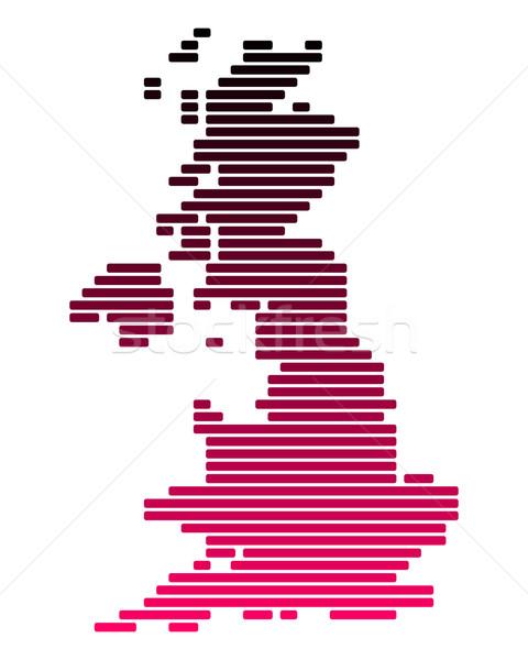 Mappa gran bretagna rosa Inghilterra line viola Foto d'archivio © rbiedermann
