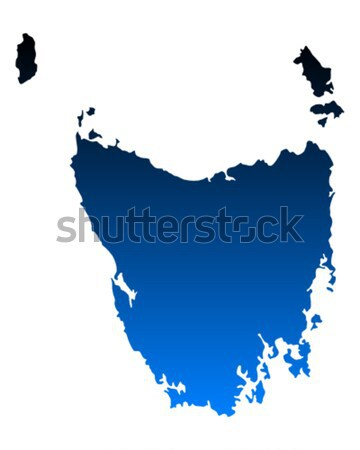 Carte tasmanie vert bleu vecteur Australie Photo stock © rbiedermann