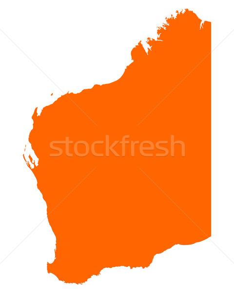 карта западной Австралия вектора Сток-фото © rbiedermann