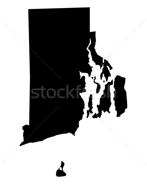 Map of Rhode Island Stock photo © rbiedermann