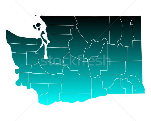 地図 ワシントン 緑 青 旅行 米国 ストックフォト © rbiedermann
