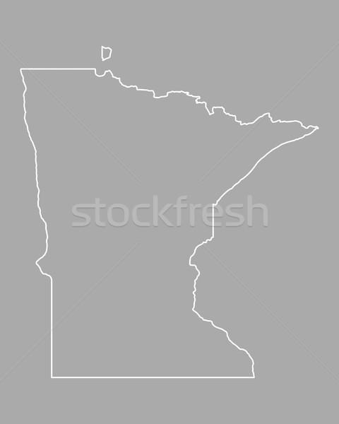 Térkép Minnesota USA vektor izolált illusztráció Stock fotó © rbiedermann