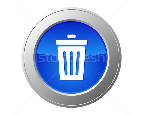 Recycle bin button Stock photo © rbiedermann