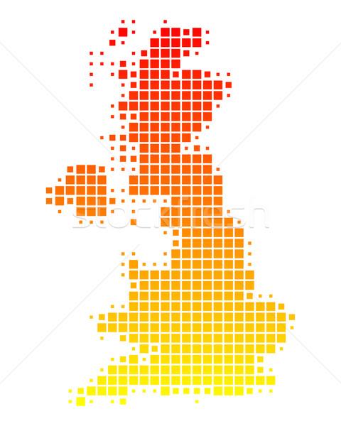 Mappa gran bretagna pattern Inghilterra piazza Irlanda Foto d'archivio © rbiedermann