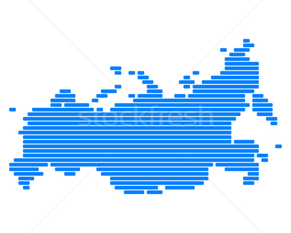 Map of Russia Stock photo © rbiedermann