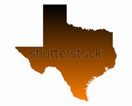 Harita Teksas seyahat vektör yalıtılmış örnek Stok fotoğraf © rbiedermann