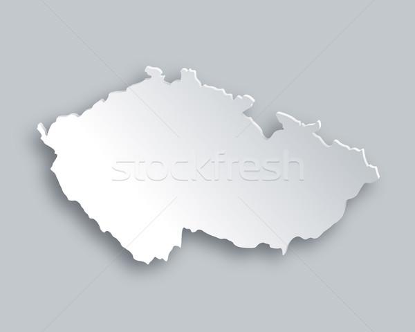 Foto stock: Mapa · República · Checa · papel · abstrato · fundo · viajar