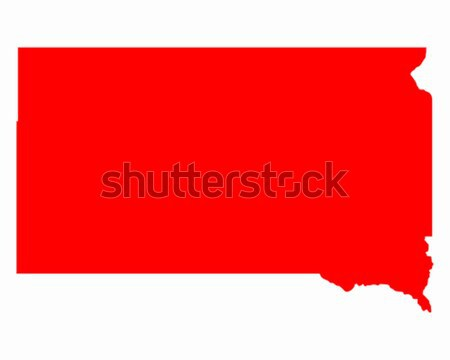 Mapa Nebraska viajar vermelho américa EUA Foto stock © rbiedermann