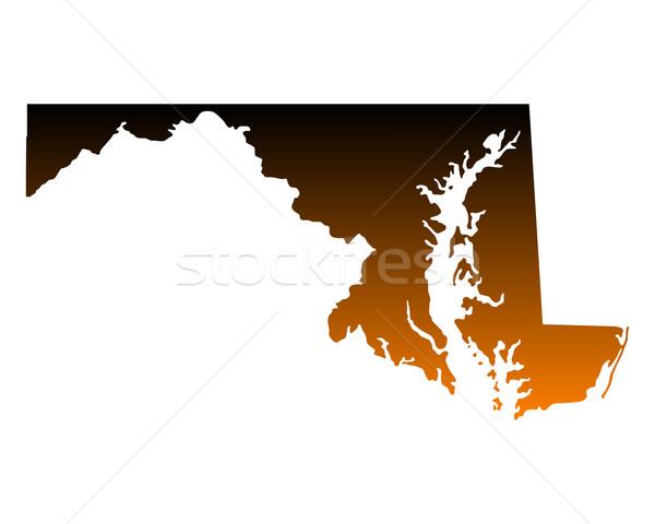 Pokaż Maryland podróży Ameryki USA odizolowany Zdjęcia stock © rbiedermann