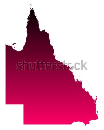 Carte queensland rouge vecteur Australie isolé Photo stock © rbiedermann