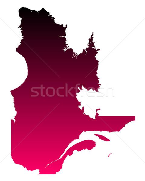Térkép Quebec háttér rózsaszín vonal lila Stock fotó © rbiedermann