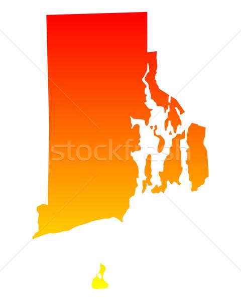 Mapa Rhode Island fundo linha américa EUA Foto stock © rbiedermann