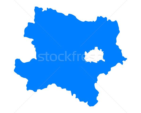 Térkép alsó Ausztria kék vektor izolált Stock fotó © rbiedermann