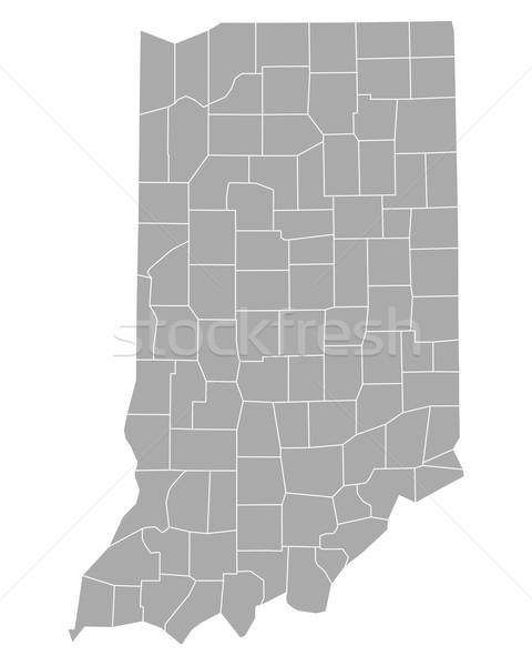 Térkép Indiana háttér vonal vektor illusztráció Stock fotó © rbiedermann