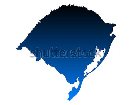 карта Рио фон синий линия вектора Сток-фото © rbiedermann