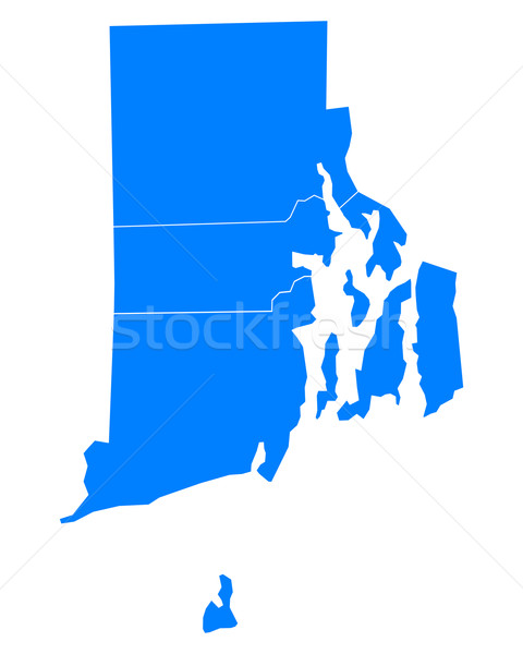 Mapa Rhode Island fundo azul ilha linha Foto stock © rbiedermann