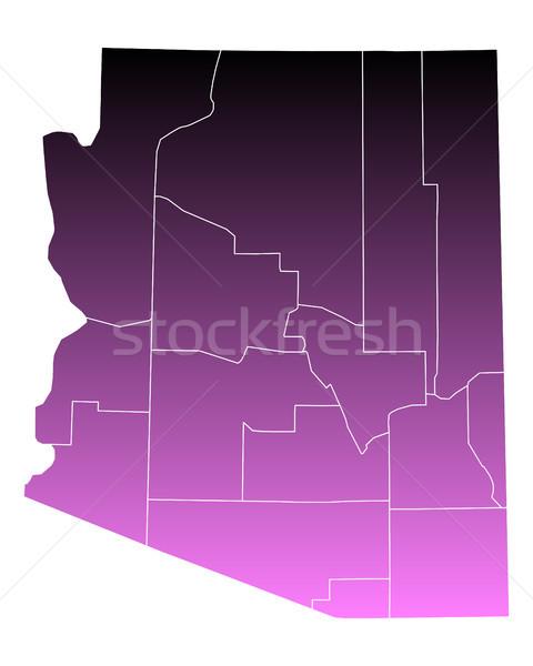 Karte rosa usa Vektor isoliert Illustration Stock foto © rbiedermann