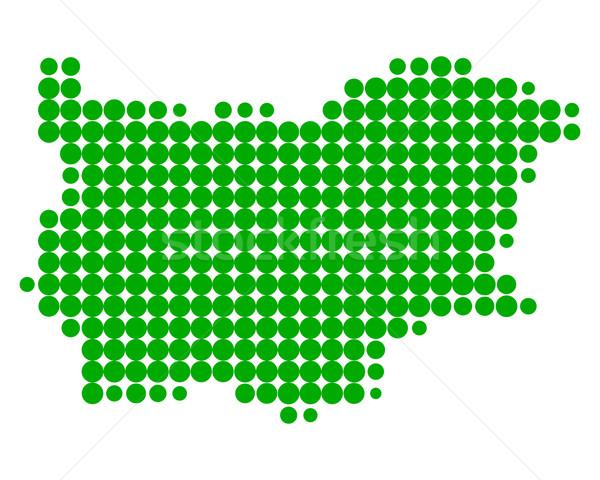 Pokaż Bułgaria zielone wzór kółko Zdjęcia stock © rbiedermann