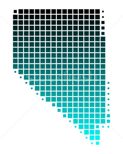 地図 ネバダ州 緑 青 パターン アメリカ ストックフォト © rbiedermann