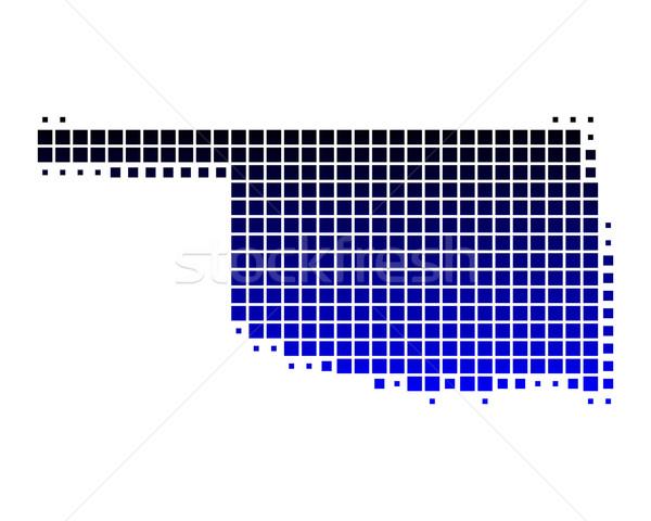 карта Оклахома синий шаблон Америки квадратный Сток-фото © rbiedermann