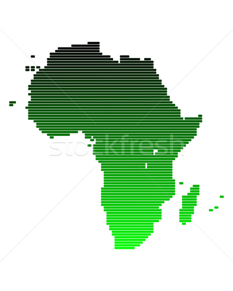 Map of Africa in broad lines with green gradient Stock photo © rbiedermann