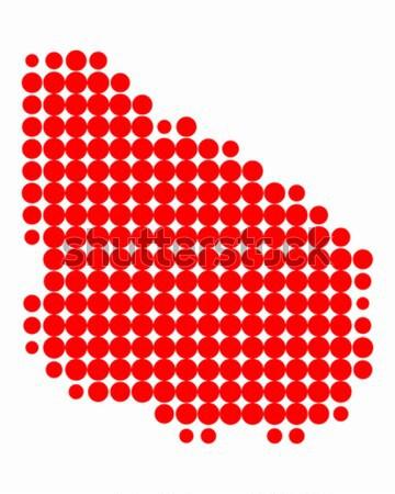 Harita tahiti kırmızı model daire nokta Stok fotoğraf © rbiedermann