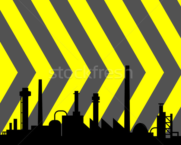 Industrial edifício fundo edifícios fábrica preto Foto stock © rbiedermann