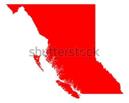 Kaart Idaho reizen Rood amerika USA Stockfoto © rbiedermann