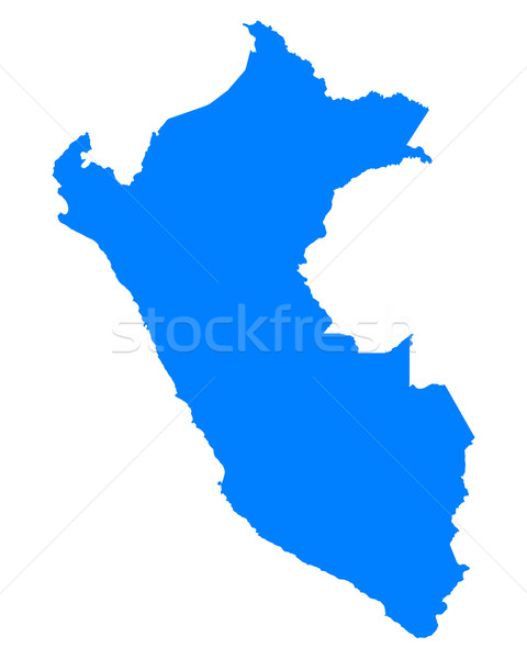 地図 ペルー 青 ベクトル 孤立した ストックフォト © rbiedermann