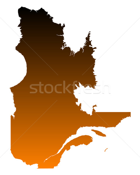 Kaart Quebec vector Canada geïsoleerd illustratie Stockfoto © rbiedermann