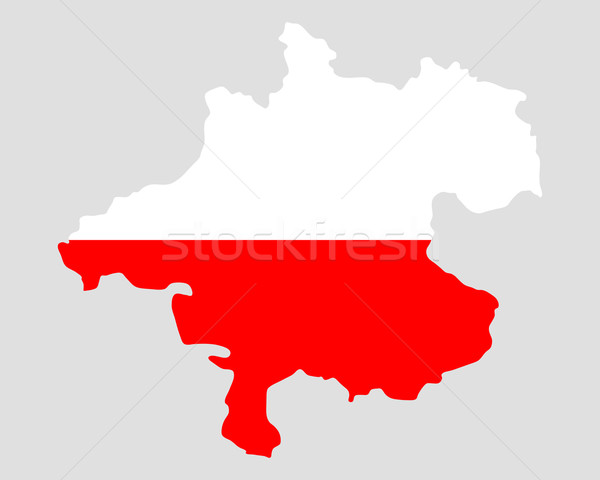 Map and flag of Upper Austria Stock photo © rbiedermann